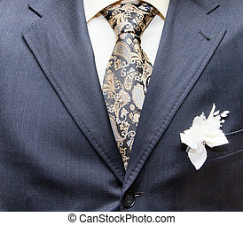 business formal wear with tie and suit