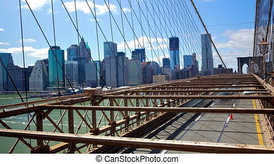 Brooklyn Bridge time lapse - New York Manhattan skyline from...
