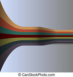 Background with retro lines