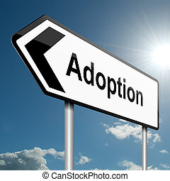 Adoption concept. - Illustration depicting a road traffic...