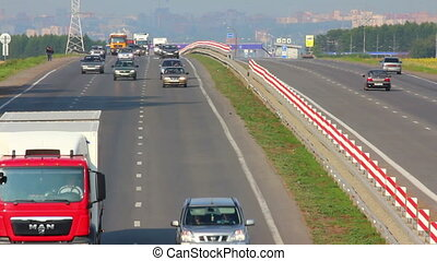 cars traveling on highway - cars traveling on the highway -...