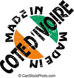Made in Cote d'Ivoire - vector label Made in Cote d'Ivoire