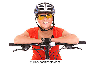 Vital cyclist - A picture of a young woman riding a bike...