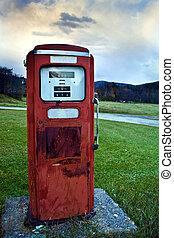 Gas pump   - Old red gas pump