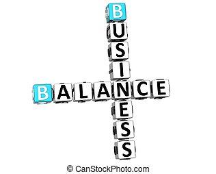 3D Business Balance Crossword