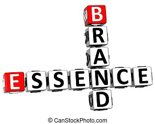 3D Brand Essence Crossword on white background