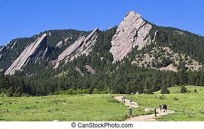 Flatirons at Boulder, Colorado - Flatirons Hike at...
