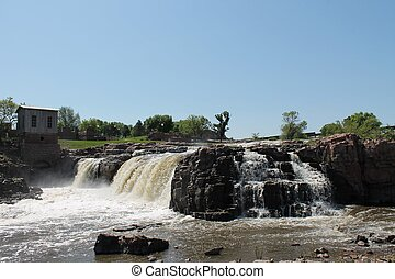 Sioux Falls South Dakota - View of the Waterfalls of Sioux...