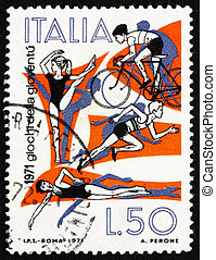 ITALY - CIRCA 1971: a stamp printed in the Italy shows...