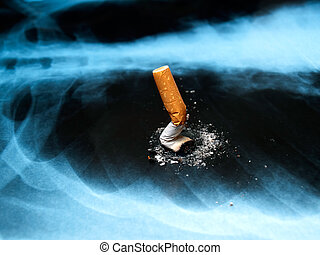 Smoking issues - Conceptual image about smoking issues and...