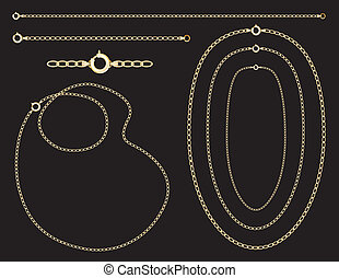 Gold Chains, Necklaces, Bracelet - Gold chains, necklaces,...