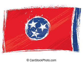 Grunge Tennessee flag - State of Tennessee flag created in...