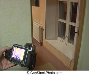 thermal image technology - thermal imaging cameras. walls...