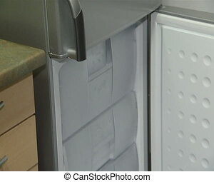 refrigerator door opening - refrigerator cabinet door and...