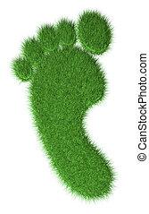 3d grass footprint