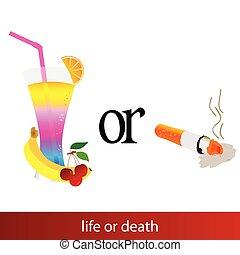 life or death illustration sign