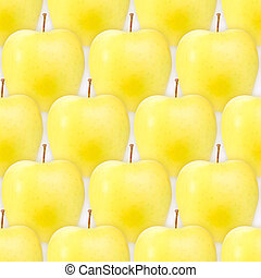 Seamless pattern of fresh yellow apples - Abstract...