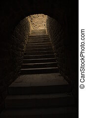 The Way Out, old stairway