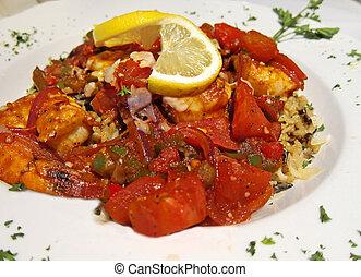 placa, camarón, Creole