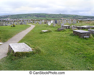 Cemetery in Cornwall.