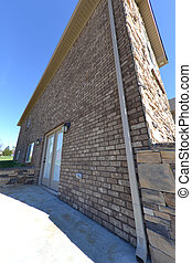 Exterior of a Newly Built House - Exterior of a newly built...
