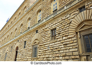 Palazzo Pitti Florence - facade of the Palazzo Pitti in...