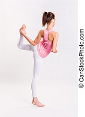 Attractive young yoga fitness girl. - Attractive flexible...