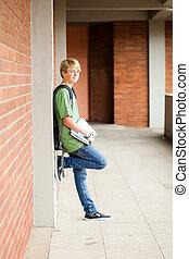 male middle school student in school