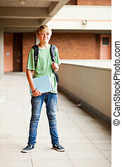 happy male high school student
