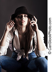 favorite - Shot of an attractive fashionable girl posing in...