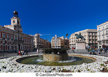 Sol plaza in Madrid Spain