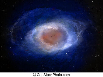 nebula in an outer space