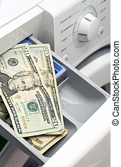 Clothes washer - The concept of the subject use of expensive...