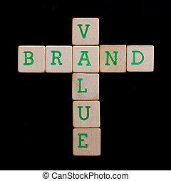 木製である, 手紙, ブロック,  (brand,  value)