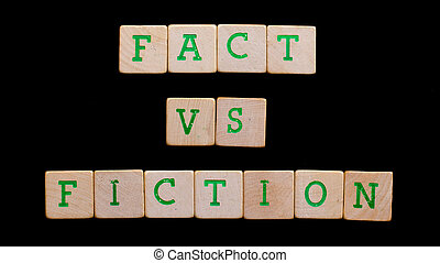 Letters on old wooden blocks (fact, fiction)