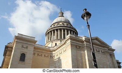 Pantheon and Street Lamp. Timelapse - The Pantheon in the...