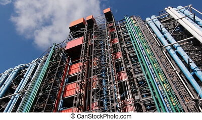 Georges Pompidou center - Exterior of the Georges Pompidou...