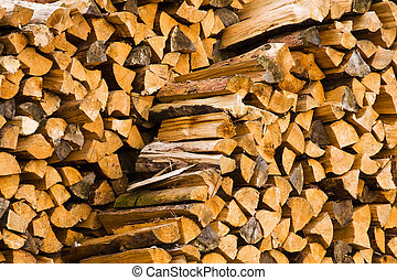 firewood - the firewood combined in two ranks for a furnace...