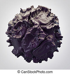 black 3d abstraction