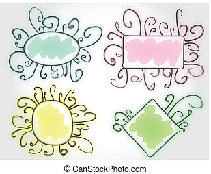 funny colorful vector frames