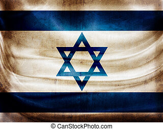 Grunge flag series - Israel