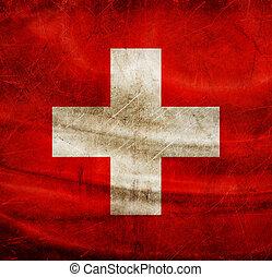 Grunge flag series - Switzerland
