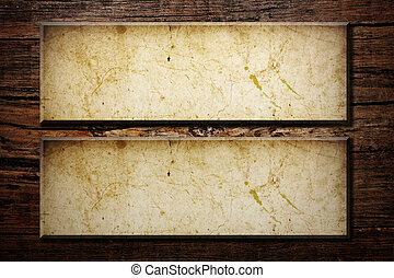 paper frames on a wood background