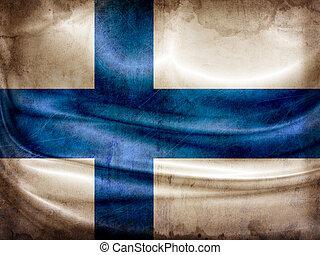Grunge flag series - Finland