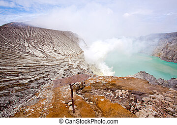 Ijen Crater Indonesia - landscape of Ijen Crater Indonesia...