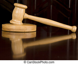 Justice gavel - Wooden justice gavel and sound block