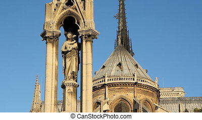 Notre Dame Cathedral. Detail. - Notre Dame Cathedral viewed...