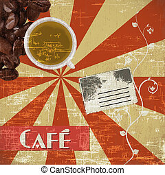 coffee house background vector - EPS 10