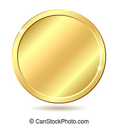 golden coin - Gold coin Vector illustration isolated on...
