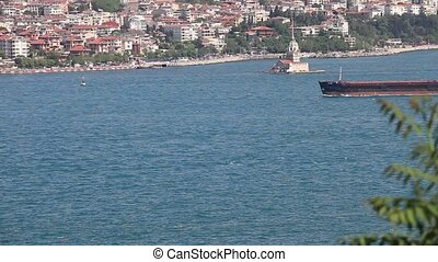 container ship passing bosphorus